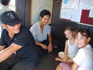 Comment aller à l'infirmerie et au centre de Seiha.....par le fleuve avec Phoceamekong Cruises !