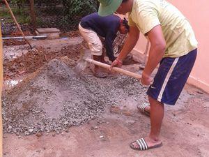 Construction d'une classe maternelle pour les petits chez Seiha
