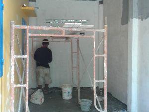 Classe maternelle, la construction avance bien
