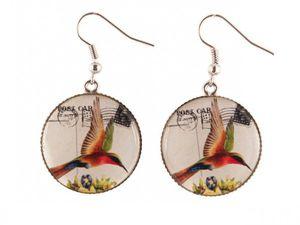De chez Christine Bijoux -Boucles d'oreilles Istanbul Rose 18,00$ et -Boucles d'oreilles Le colibri Jamaïcain 18,00$