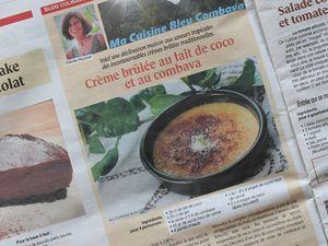 Crème Brûlée au Lait de Coco et au Combava