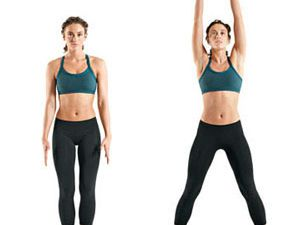 7) 20 second plank, 8) 10 crunches,9) 15 vertical leg crunches,10) 20 jumping jacks,11) 20 squats,12) 10 lunges,13) 25 jumping jacks