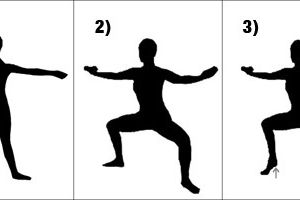 1) high knees,2) butt kickers,3) 45 seconde standing harmstring strech,4) 5 plie in first position,5)standing calf raises,6 et 7)cambre left and right,8) plies in second position,9) 5 grand battement chaque jambe,10) butterfly strech,11) pike strech