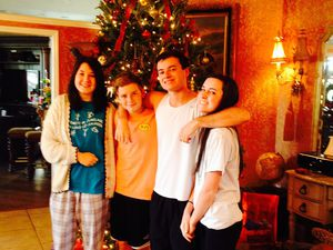 Christmas morning with my host family :)