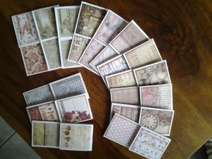 Des cartes, des cartes, des cartes, et aussi des marque-pages...