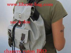 besace sac bandoulière en chanvre et coton BIO liberty-bag