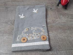 lin gris d'Ikéa, liberty adeladja de chez cousette, suédine du marché, boutons de mon stock