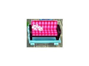 Les retouches avec le meuble rose et noir.