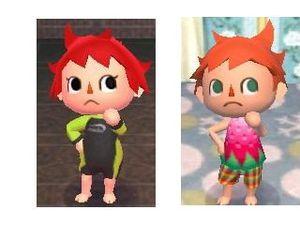 Photo 1 (la coupe j'aime me démarquer) photo 2 (image 1 : coupe fille, image 2 : coupe garçon après une longe nuit de sommeil).