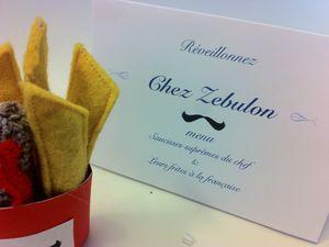 Sc N°202....  Saucisses frites royales ...chez Zebulon!