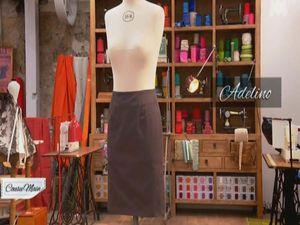 COUSU MAIN - 01  Le coton : jupe droite.