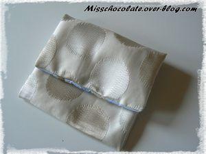 Pochette en tissu entièrement doublée