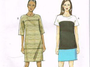 T-shirt bi-matière motif &quot&#x3B;Renard&quot&#x3B; - Patron Vogue V8805