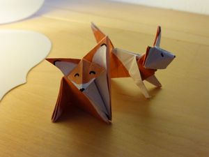 Le collier en origami malin comme zoro.