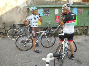 1- Premier arrêt buvette. 2- Thierry : j'y vais, j'y vais pas ? 3- Christophe et Richard.