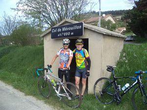 1- Petites Gorges. 2- Passage à la Rochette du Buis. 3- Mes potos au col de Mévouillon. 4- Villefranche.
