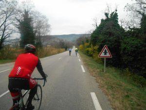 Passage sur l'Eygues au pont de Buisson puis on file sur Vaison par la route principale.
