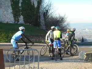 """Première petite pause au sommet de La Garde Adhémar pour attendre les """"lourds"""""""
