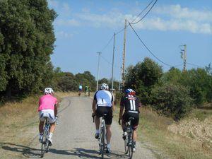 Pierre, Seb et Lucho qui font du tourisme sur les hauteurs de Clansayes !!!