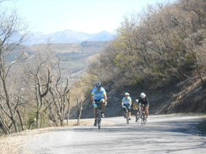 Au niveau de Laragne on entame notre retour avec un passage sous le village de Lagrand.