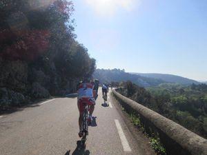 Le croisement de Barjac / Montclus puis on bascule dans la vallée de Cèze qui est sublime !