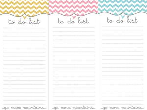 Mes to do list