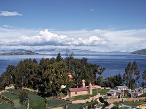 Air pur et réflexions du Titicaca