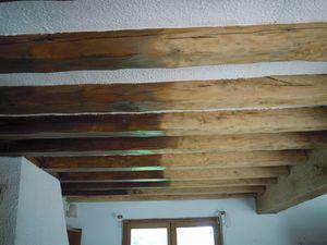 Decapage de poutres en chêne lasurer ou peinte proche Evreux 27