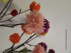 Bouquet de pompons DIY
