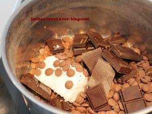 Recette des roses des sables au chocolat au lait
