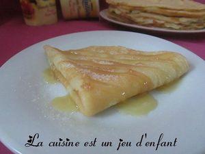 Crêpes au yaourt {sans repos}