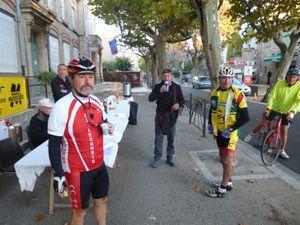 Monsieur Alain GINIÈS s'apprête à prendre le départ.