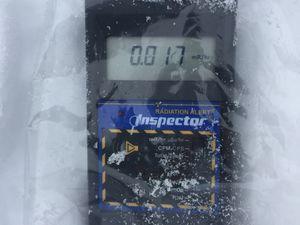 Tests Geiger sur la neige au sol 16/02/2016
