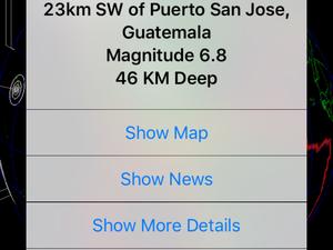 Séisme de magnitude 6.8 au Guatemala et message important