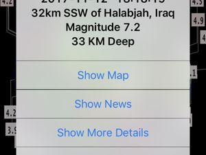 Séisme de magnitude 7.2 en Irak