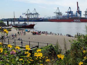 Hambourg au bord de l'Elbe