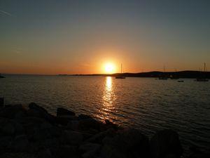 On a pu assister au coucher de soleil le premier soir, aussi beau qu'à Santorin !