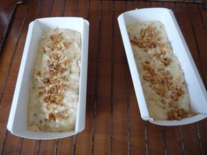 Cake aux oignons frits