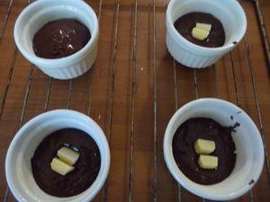 Coulants au chocolat.