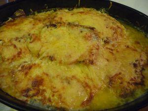 Côte de porc, sauce crème (cuisson au four)
