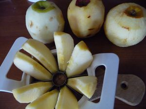 Fondant aux pommes mascarpone