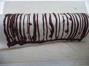 Décoration cage en chocolat et croustillant