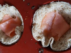 Quiche toast Cups au saumon