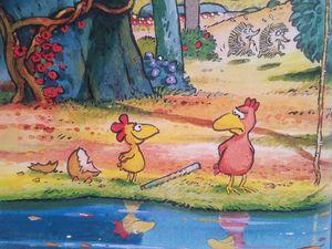 1-La petite poule qui voulait voir la mer&#x3B; 2-Un poulailler dans les étoiles&#x3B; 3-Le jour où mon frère viendra&#x3B; 4-Nom d'une poule, on a volé le soleil !