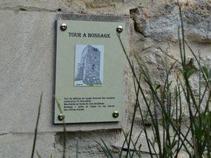 Le bossage, largement répandu dans l'Antiquité mais quelque peu occulté durant plusieurs siècles, se répand dans l'architecture militaire royale française vers la fin du XIIIe siècle. Les différences relevées dépendent notamment de l'époque, des commanditaires et de la zone géographique. Les musulmans et les Francs de Terre sainte l'utilisent couramment pour leurs remparts, de même que les potentats de l'Empire germanique. A compter du milieu du XIIe siècle, l'Alsace se couvre ainsi de pierres à bosses taillées dans l'élégant grès rose des Vosges.  Il est parfois avancé que le bossage renforce la cohérence des murailles contre l'impact des projectiles. Cette hypothèse n'a à ce jour jamais été prouvée. On peut en revanche y déceler une certaine recherche esthétique, plus souvent présente qu'on ne le pense dans l'architecture castrale. Mais c'est sans doute du côté de la symbolique de l'autorité, de la représentation du pouvoir, qu'il nous faut en rechercher sa cause profonde. Le bossage rompt la platitude des parements et confère aux édifices qui en sont pourvus une véritable impression de puissance. Le soleil y crée un jeu d'ombres et de lumières saisissant.