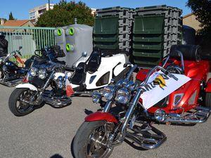 Des motos, beaucoup de motos, surtout des Harleys