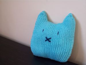 Petit chat turquoise