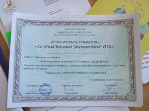 Certification Phyto Sanitaire