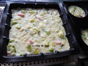 Quiche aux poireaux/lardons sans pâte