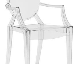 Fauteuil Louis Ghost et Chaise Victoria Ghost - Kartell - Designer :  Philippe Starck